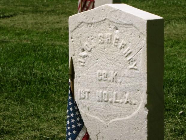 Milwaukee Calvary Cemetery Civil War grave of Joseph Shefhey.