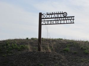 The Milwaukee Rotary Arboretum is under construction along the Milwaukee River on the southern edge of Riverside Park.