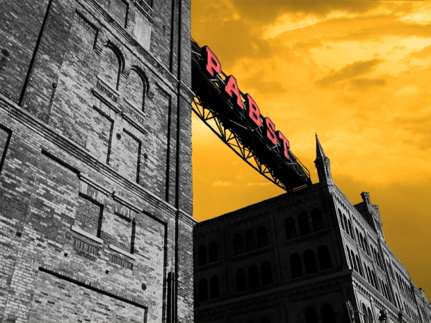 Although the area is undergoing rapid development, some of the original Pabst buildings remain. Photo illustration by Carl Swanson