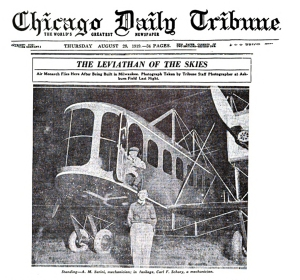 The Milwaukee-built airliner made headlines everywhere it went. At a time when aviators typically flew in open cockpits, the two pilots of the Lawson aircraft worked
