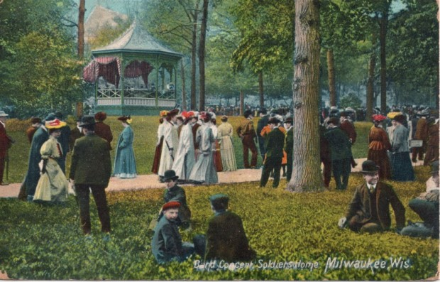 In the late 1800s and into the early 1900s, Soldiers Home was a popular place for Milwaukee residents to spend a summer afternoon. Postcard image, Carl Swanson collection