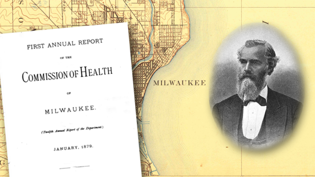 O.W. Wight served as Milwaukee's commissioner of Health in the late 1870s, and was instrumental in sweeping reforms that greatly improved public health and welfare. Illustration by Carl Swanson