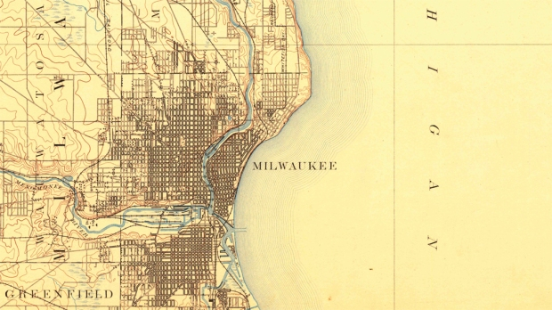 Milwaukee, as it appeared in O.W. Wight's time.