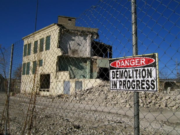 The building, adjacent to the north end of the Beer Line Trail, will soon be a vacant lot. Carl Swanson photo