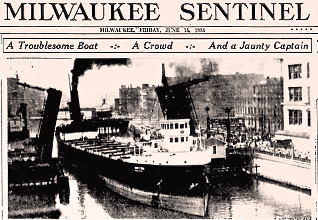 Expert ship handling, icy contempt for petty bureaucrats, and a flair for the dramatic made steamship Captain E.J. Bodenlos a local hero in 1934.