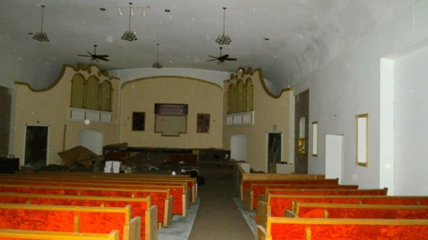 The actual screen is gone, but much of the old theater's character remains. Sean Olster photo