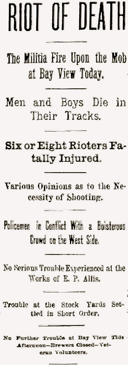 The Milwaukee Journal's front page, May 5, 1886.