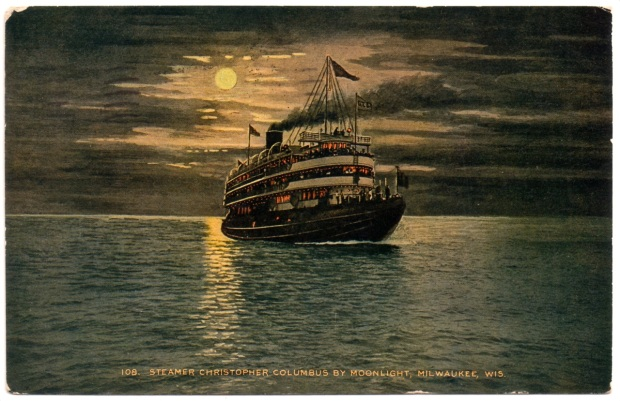 Christopher Columbus postcard, Carl Swanson collection
