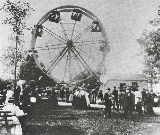 The Ferris wheel was invented by George W. Ferris, and was a sensation when it was introduced at the Columbia Exposition in Chicago in 1893. Later that same year the Pabst resort installed a smaller version of the famous ride. Carl Swanson collection