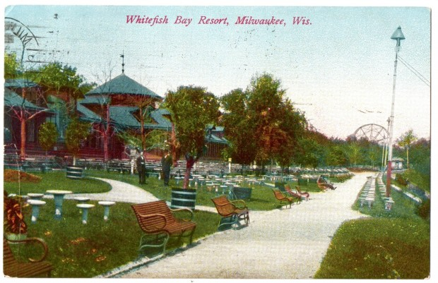 The Pabst Whitefish Bay Resort was a favorite summer destination for Milwaukeeans, as famous for its planked white fish dinners as it was for ice cold lager. Carl Swanson collection