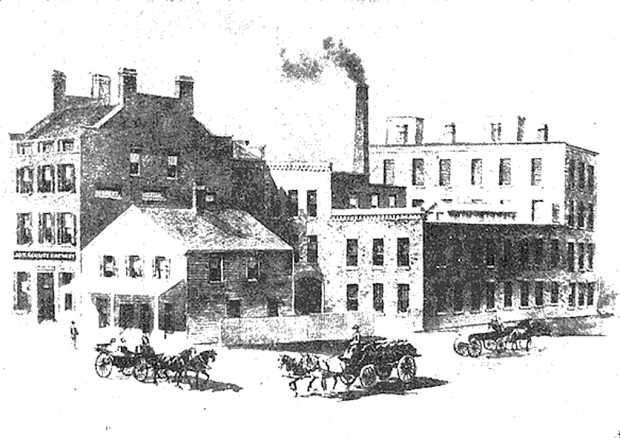 The fist Schlitz brewery was on West Juneau, between Fourth and Fifth streets.