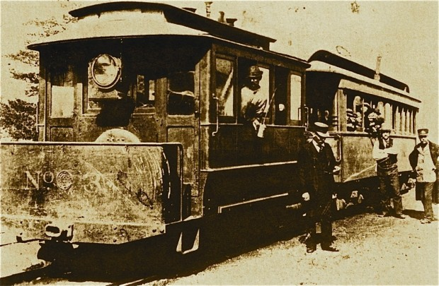 The Milwaukee & Whitefish Bay operated a steam train service between Milwaukee and the North Shore starting in 1888 using this 12-ton