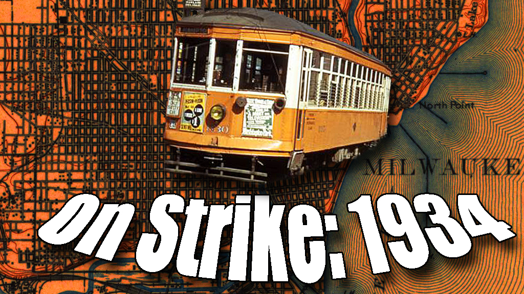 A brief strike in 1934 paralyzed the city's transit network and triggered mass rioting. Carl Swanson illustration