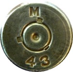 "Cartridges made by the Milwaukee Ordinance Works were stamped with an ""M"" and the year of manufacture. Photo courtesy Jerry Penry"