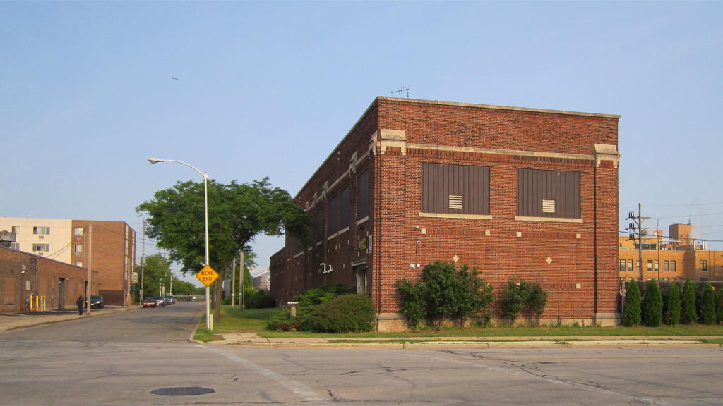 This former Milwaukee Electric Railway and Transportation Co., substation still stands at the intersection of 36th and Wells, near the east end of the former viaduct. Carl Swanson photo