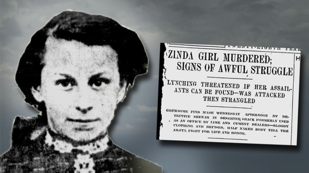 In 1909, the battered body of 14-year-old Hattie Zinda was found in a tumbledown shack in Riverwest. Attacked by two men, evidence showed the little girl had put up a fierce – and ultimately futile – fight her life.