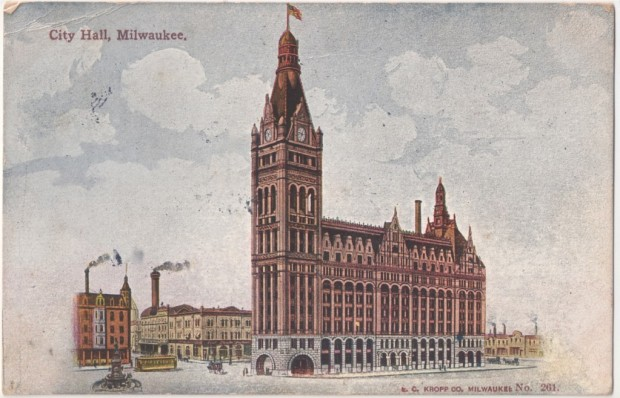 An early postcard view of Milwaukee's City Hall. Carl Swanson collection