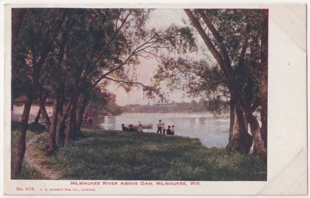 River scene from the 1890s