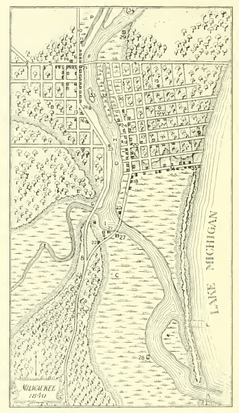 Milwaukee, as it appeared in 1840.