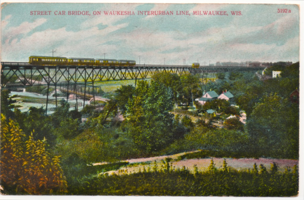 Wells Street viaduct postcard
