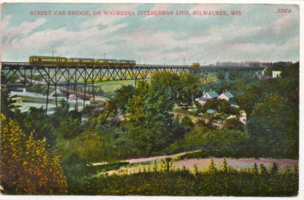 Wells Street viaduct postcard