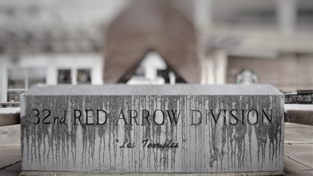 Red Arrow monument base
