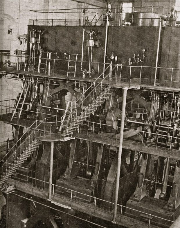 River pumping station steam engine