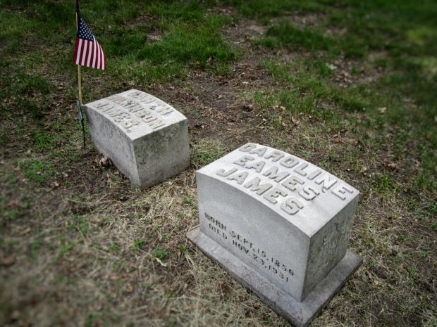 Caroline James headstone