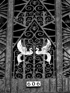 Fine ironwork adorns the entrance to the Wisconsin Tower, which remains a fine example of art deco architecture. Carl A. Swanson photo